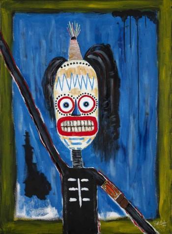 "Hello, my name is Earl. • acrylic on canvas • 40"" x 30"" • $2,900"