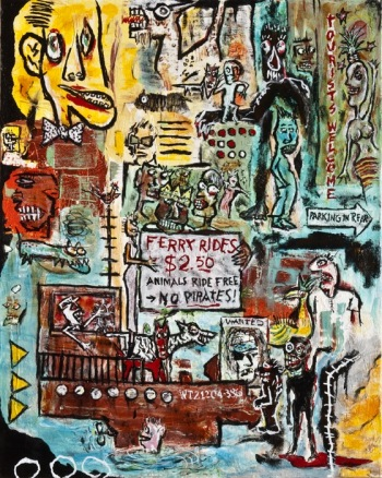 "Animals Ride Free • acrylic on canvas • 30"" x 24"" • $2,200"