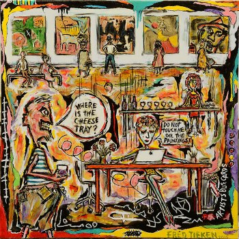 "Artist Reception • acrylic on canvas • 24"" x 24"" • $1,600"