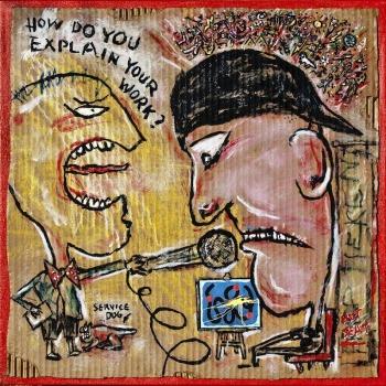 "Artist Statement • acrylic on corrugated cardboard & canvas • 20"" x 20"" • $1,200"