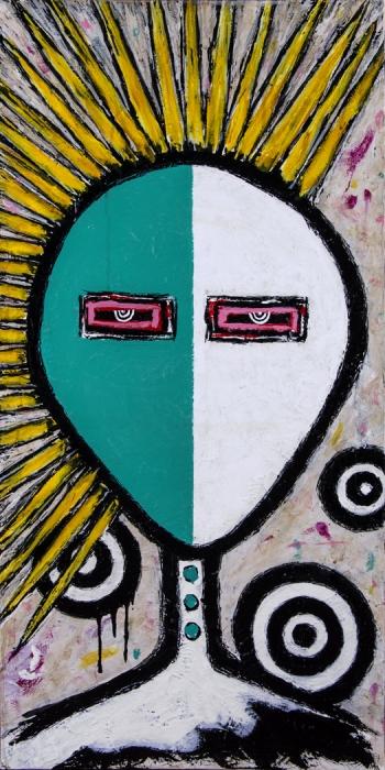 """Famous • acrylic on canvas • 36"""" x 18"""" • $2,100"""
