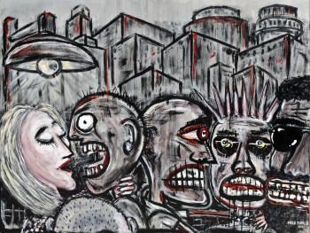 """Saturday Night • acrylic on canvas • 48"""" x 60"""" • $5,850"""