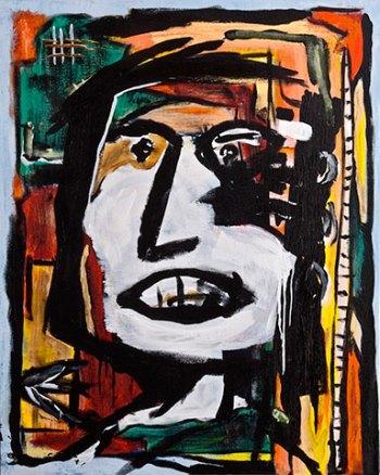 """Francesca • acrylic on canvas • 30"""" x 24"""" • $1,500"""