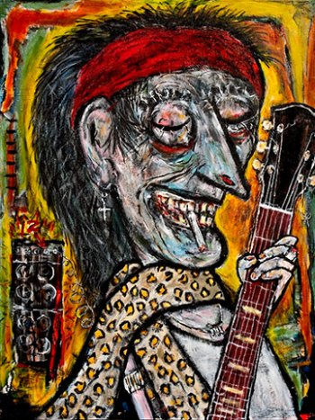 "Geezer Rock • acrylic on canvas • 40"" x 30"" • $2,900"