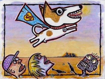 "It's a Bird… It's a Plane… • acrylic on canvas • 30"" x 40"" • $3,900"
