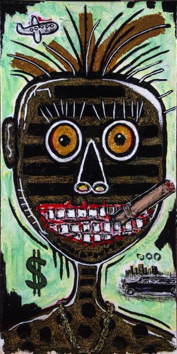 "Rich • acrylic on canvas • 36"" x 18"" • $2,100"