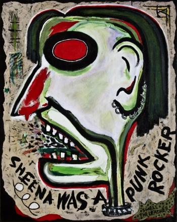 "Sheena was a Punk Rocker • acrylic on canvas • 30"" x 24"" • $2,200"