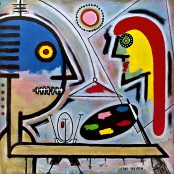 """The Artist • acrylic on canvas • 36"""" x 36"""" • $3,900"""