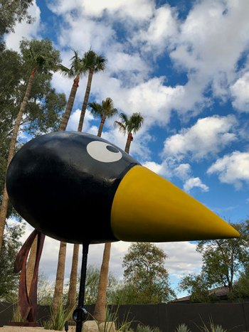 UNO sculpture • Fiberglas & steel • $10,000