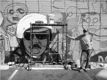 Fred's original art for 126' mural
