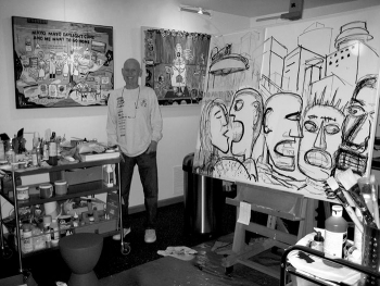 Fred at work in his studio
