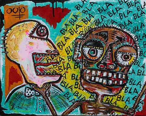 "Bla Bla Bla • acrylic on canvas • 24"" x 30"" • $2,200"